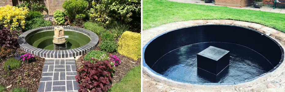 Two feature garden pools recently completed