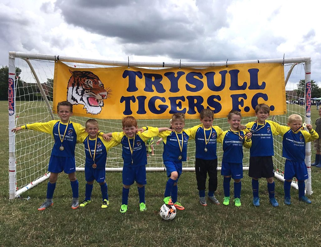 Trysull Tigers West FC. Sponsored by Diamond Fibreglass